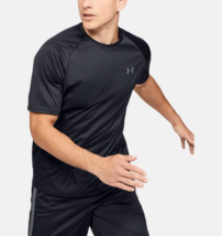 Under Armour Mens UA HeatGear Velocity Training T-Shirt 1327965-001 Blac... - $18.01