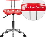 "Personalized Vibrant And Task Chair With Tractor Seat Red/Chrome/16.5""L x 17""W x"