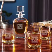 Block Monogram Whiskey Glass Gift Set - $109.95
