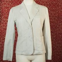 TALBOTS beige striped blazer S (T15-02K8G) - $14.83