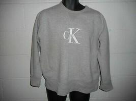 Vintage 90s Heather Gray Calvin Klein CK Sweatshirt M/L - $34.99