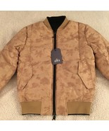 LEVI'S MADE & CRAFTED REVERSIBLE BOMBER JACKET Sz XS Womens Black/Tan $458 - $138.59
