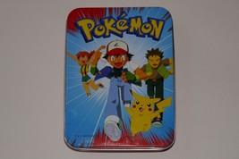 Nintendo 1999 Pokemon Deck of Playing Cards & Tin Bicycle Licensed Produ... - $24.74