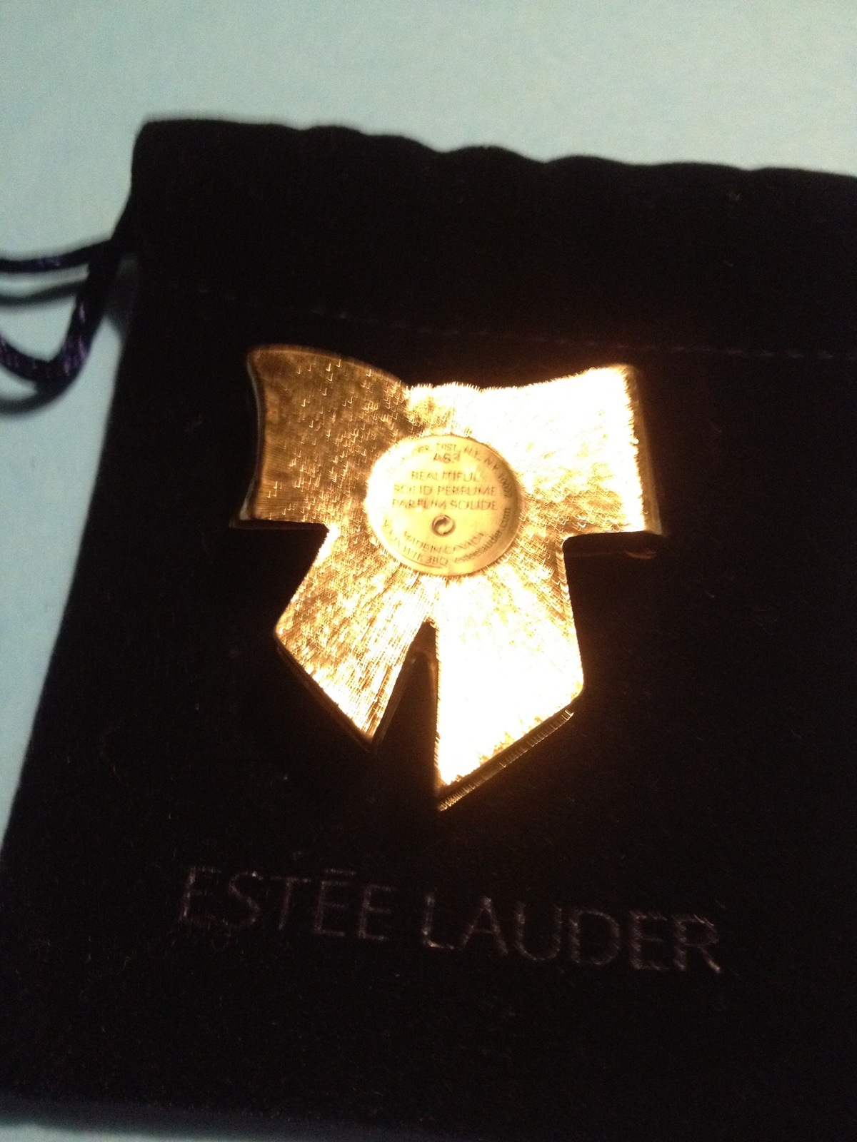 Estee Lauder USA PATRIOTIC RIBBON 2003 Perfume Compact - Red White and Blue