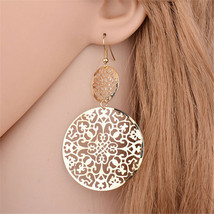 Vintage Bohemian Long big Earrings For Women Jewelry Hollow Dangle Earrings - $3.00