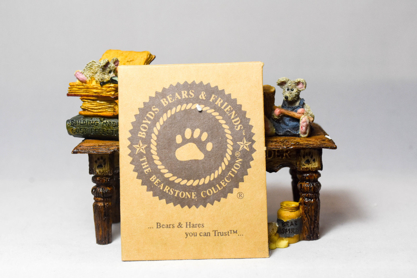 Boyds Bears: Noah's Genius At Work Table - Style 2429 image 10