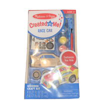 Melissa & Doug Created by Me! Race Car Wooden Craft Kit New - $10.79