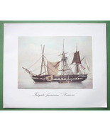 SAILSHIPS French Frigate Pomone - 1963 Fine Quality Color Print - $21.42