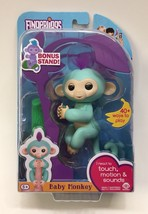 New WowWee Fingerlings Interactive Baby Monkey - Teal Blue 'ZOE' w/ Bonus Stand - $14.80