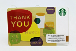 Starbucks Coffee 2010 Gift Card Thank You Merci Gracias Danke Zero Balance - $11.27