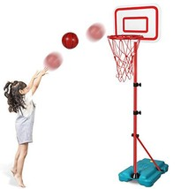 N/C Kids Basketball Hoop Stand Adjustable Height 2.9 ft -6.2 ft Indoor Basketbal