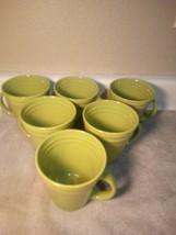 (6)  RACHAEL RAY COFFEE MUGS / CUPS--DOUBLE RIDGE--GREEN---FREE SHIP--VGC - $33.48