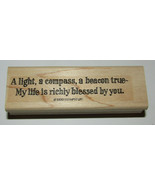 Light Compass Beacon True Rubber Stamp My Life Richly Blessed By You Sta... - $8.72