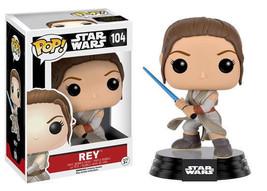 Star Wars The Force Awakens Rey with Lightsaber Vinyl POP! Figure Toy #1... - $12.55