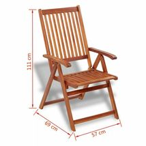 vidaXL 2x Acacia Wood Outdoor Dining Chair Home Kitchen Furniture Seat Dinner image 9