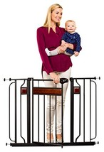 Regalo Home Accents Extra Wide Walk Thru Baby Gate, Includes Décor Hardw... - $60.23