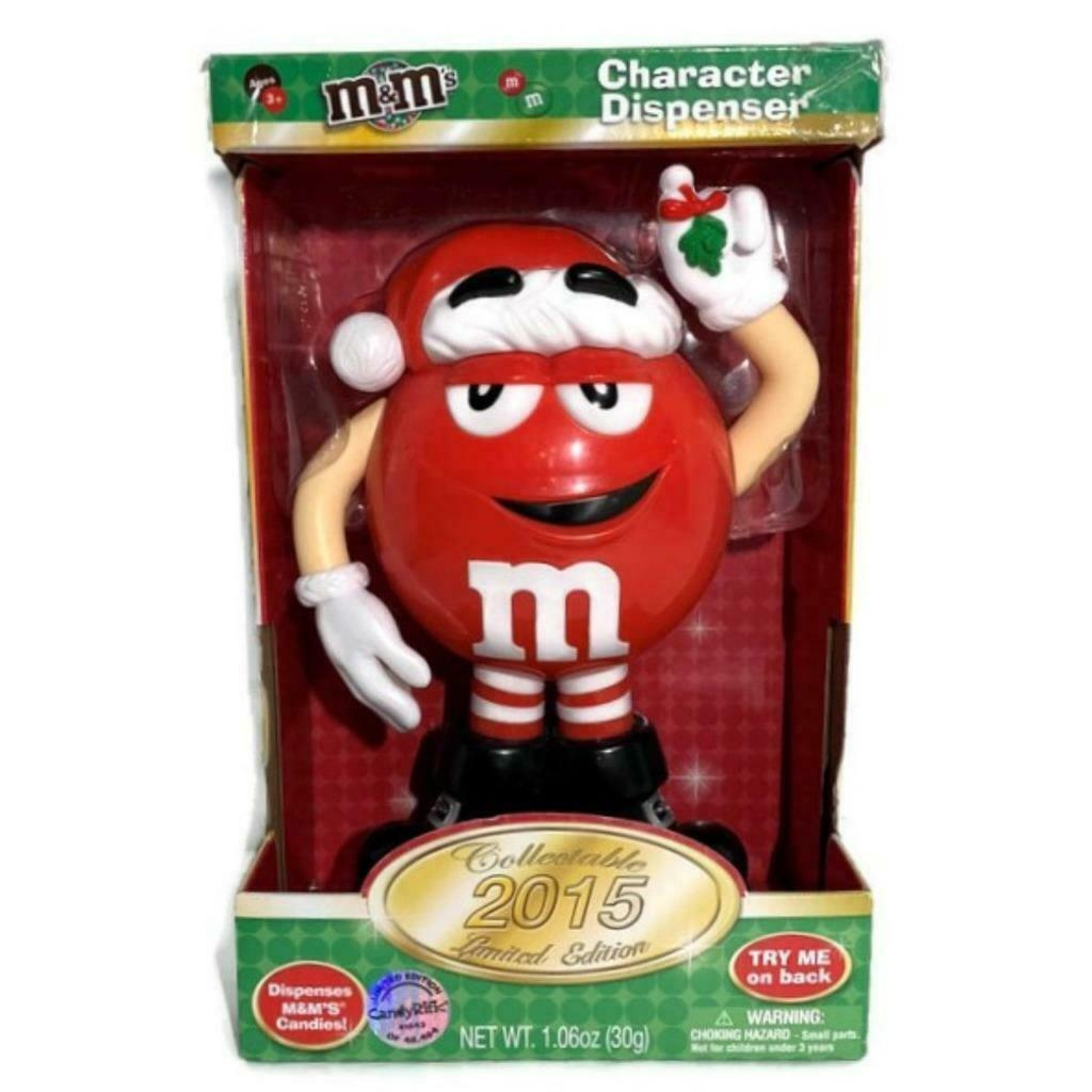 M & M's Red Character Christmas Candy Dispenser NEW IN BOX Limited Edition 2015 - $24.18