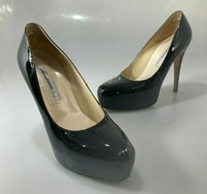 "Brian Atwood 9US 39 Maniac Black Patent Leather 5"" Stiletto Heels Shoes ... - $122.01"