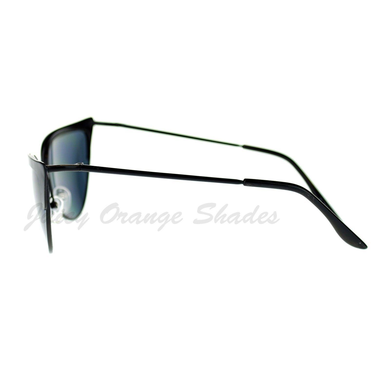 Bolded Top Cateye Metal Frame Sunglasses Women's Fashion