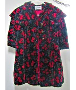 Rothschild Velvet Coat Size 5 ~ Pink flowers, purple berries - $27.50