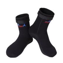 Mens Snorkeling Socks Black Scuba Diving 3MM Socks Protective Socks, US 8-9 - $20.32