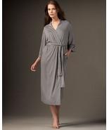 NWT $180 New Natori Gray Robe Womens Long Very Soft Solid XXL Pockets He... - $117.00