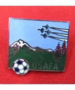 USAFA Soccer Pin Air Force Academy COLORADO Silvertone w/ Colorful Enamel  - $5.49