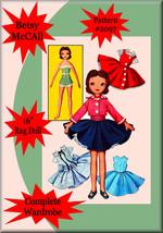 Betsy McCall Rag Doll Sewing Pattern & Wardrobe Vintage  #2097 - 16 Inch Doll - $7.99