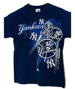 New York YANKEES Navy T-Shirt Size Small - $10.40