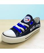 Toronto blue jays shoes womens jays sneakers baseball fans fashion canva... - $59.99+