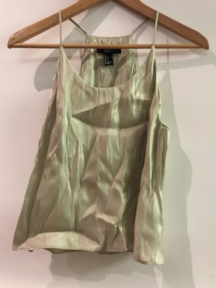 Forever 21 Shiny Green Tank Size Small - $7.95