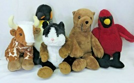 Build A Bear 5 Rare Plush Lot Cow Bull Zoo Penguin Sea Lion Guinea Pig C... - $129.95