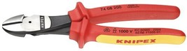 KNIPEX Tools 74 08 200 SBA InsulatedHigh Leverage Diagonal Cutters, 8-Inch