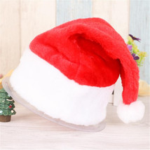 E5 Christmas Party Santa Hat Red And White Cap for Santa Claus Costume N... - $9.95