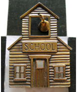 JJ Company School House with Dangling Bell Brooch Pin Jonette Jewelry Vi... - $9.99