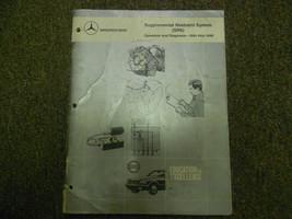 1984 1989 MERCEDES Supplemental Restraint System SRS Service Repair Shop... - $24.70