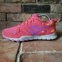 Reebok Sublite Pink Purple Yellow Running Shoes Women's 8 V45715 Comfort... - $37.37