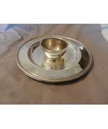 Vintage International Silver Round Serving Platter with Dip Bowl (M) - $37.13