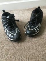 Under Armour Men's Hammer Sports Cleats Sz 10 Black Athletic Shoes - $85.50