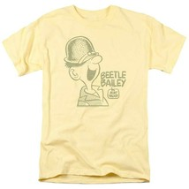 Bettle Bailey T-shirt retro comic strip cartoon yellow cotton graphic tee KSF176 image 2