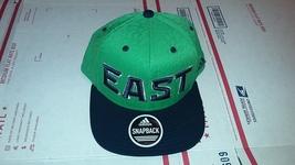 Adidas NBA East Green Blue Design Snap-Back Flat Brim One Size - $20.00