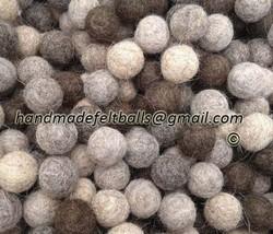 1 cm (100 pc) 100 % wool Felt Balls. pom pom sh... - $8.47