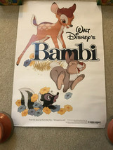 RARE Disney Movie Club Exclusive Bambi Theatrical Poster - $12.86