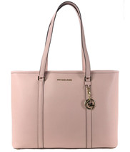 MICHAEL KORS SADY Large Leather Multifunctional Top Zip Tote, Pink - $241.00
