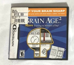 Brain Age 2: More Training in Minutes a Day (Nintendo DS, 2007) New - $19.79