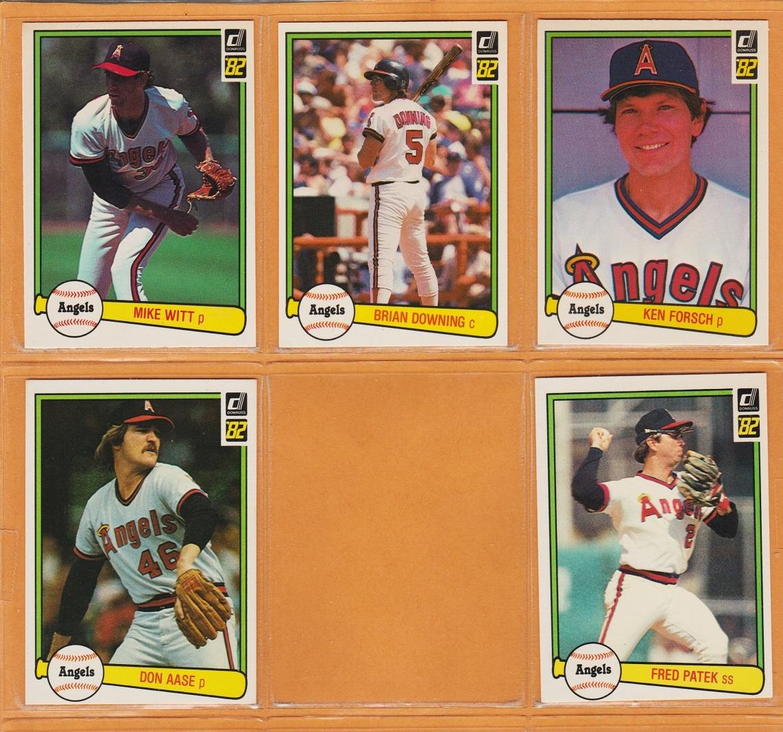 1982-1984 Donruss California Angels Team Lot Fred Lynn Mike Witt Brian Downing