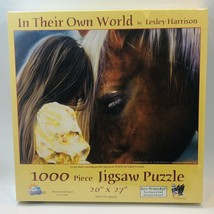 """Sealed New 1000 Piece Puzzle In Their Own World Girl Horse 20""""x27"""" Sealed - $22.76"""