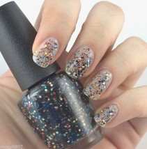 OPI Peanuts *TO BE OR NOT TO BEAGLE* Colorful /Black Glitter Nail Polish... - $4.93