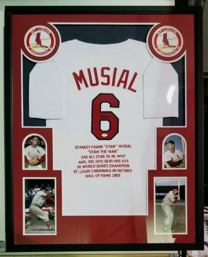 Stan Musial Autographed Signed Stats Jersey and 35 similar items