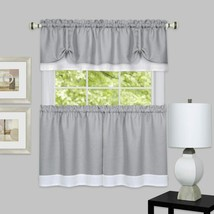 Achim Home Furnishings, Grey/White chim Home Furnishings DRTV24GW12 Darcy Window - $33.54